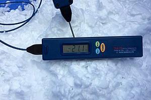 ブライン氷の温度